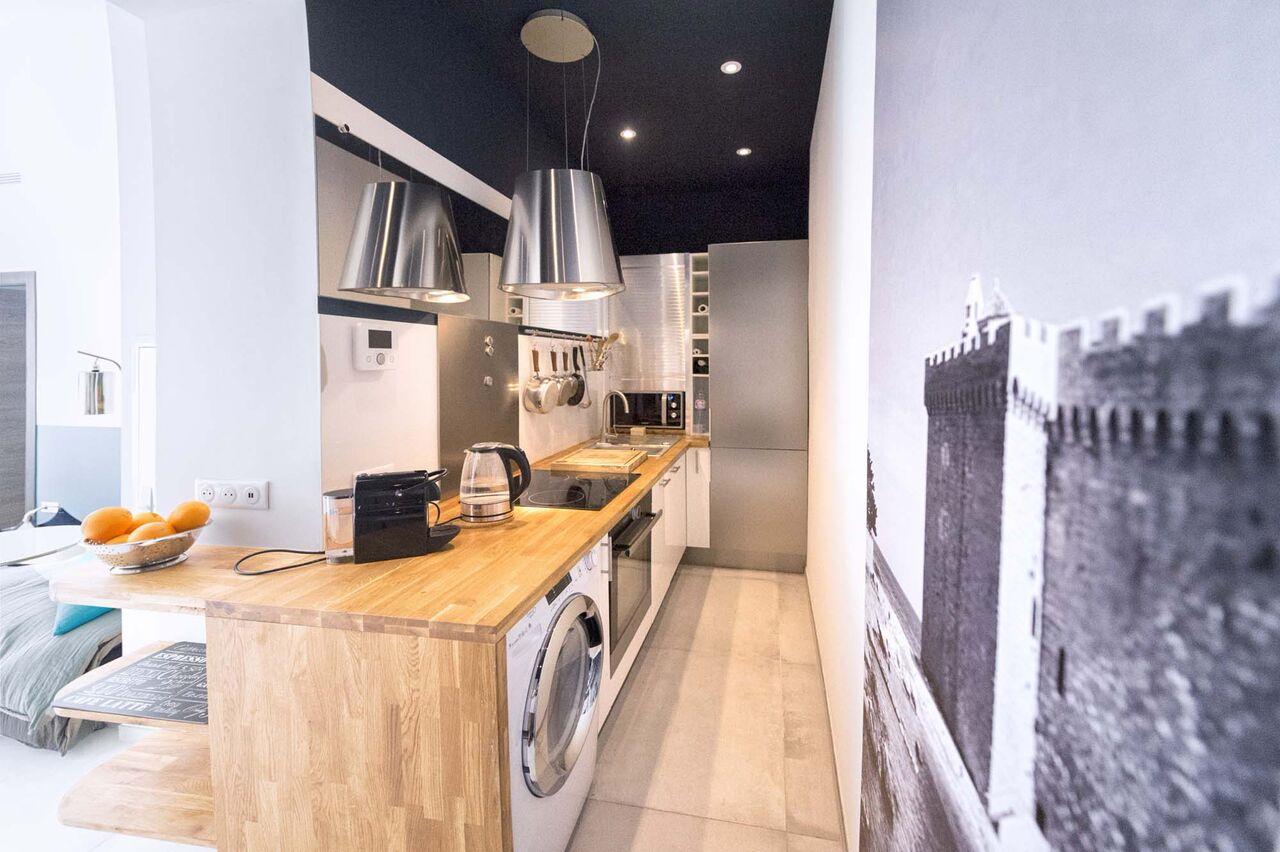 Cuisine urban factory appartement Cannes - Villa Marceau