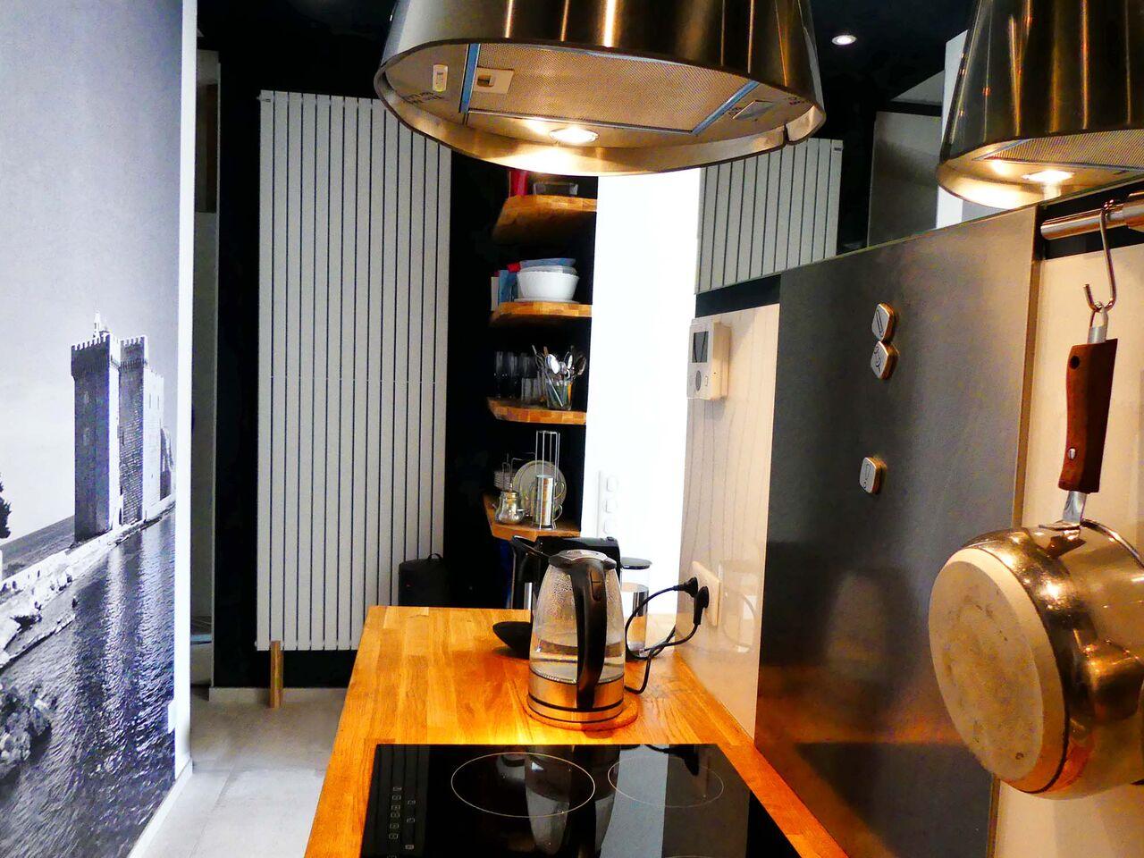 Cuisine urban design appartement Cannes - Villa Marceau