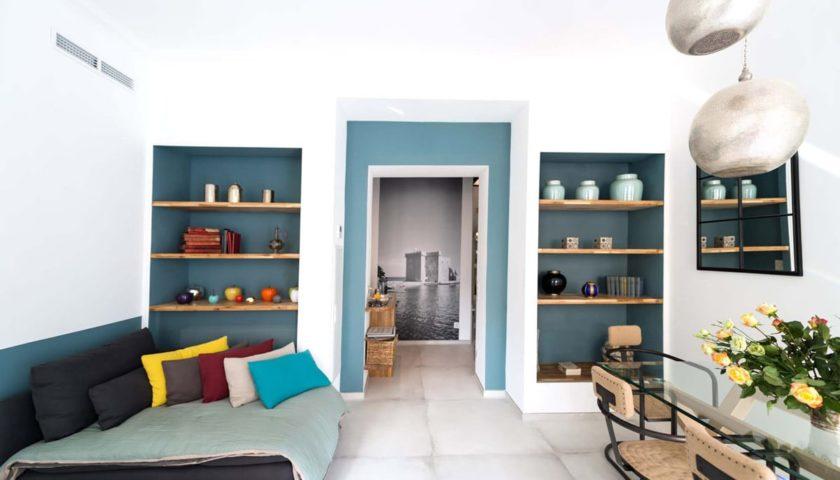 Salon canapé appartement Cannes - Villa Marceau à Cannes